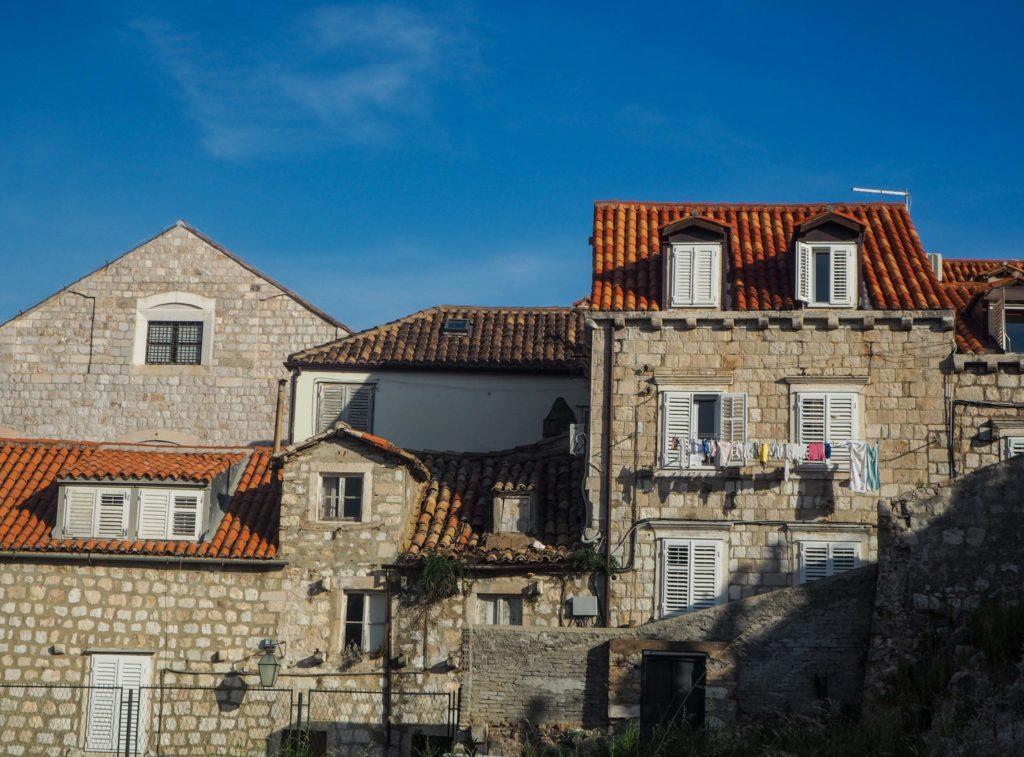 Les murs de la vieille ville de Dubrovnik en Croatie