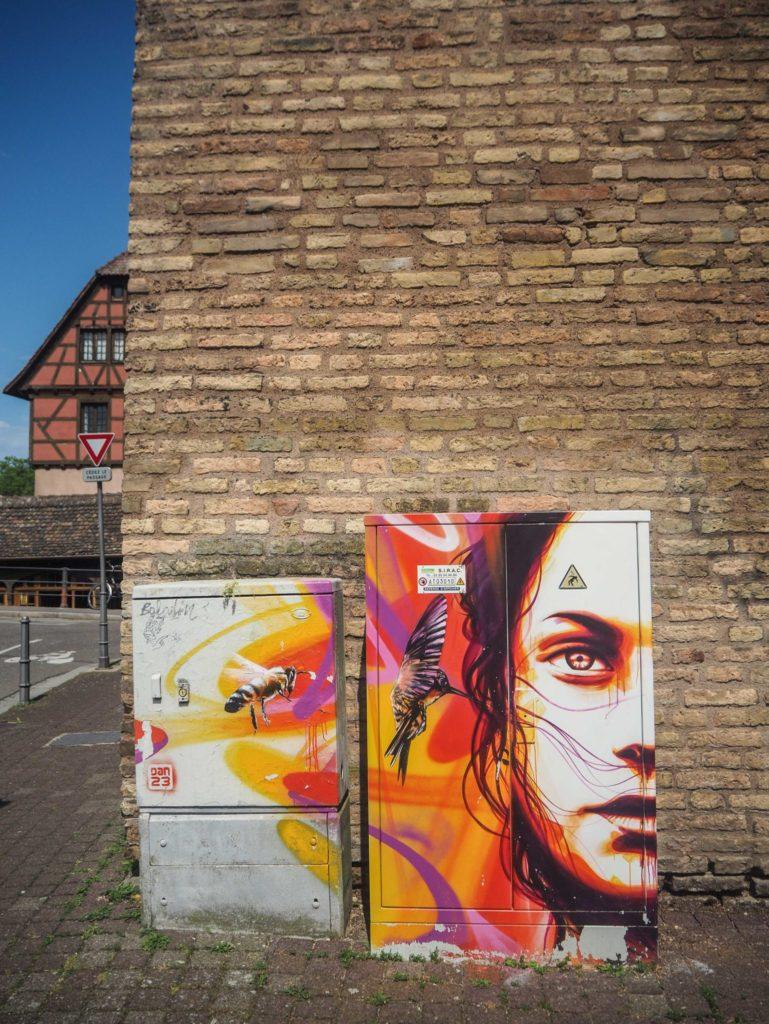 Street Art à Strasbourg - dan23 - - Visiter Strasbourg au fil de l'eau: 2 jours dans la capitale alsacienne entre amies - Par Voyages et Vagabondages, le blog du voyage en solo au féminin - Récit, photos, conseils, idées de visite et bonnes adresses pour visiter Strasbourg