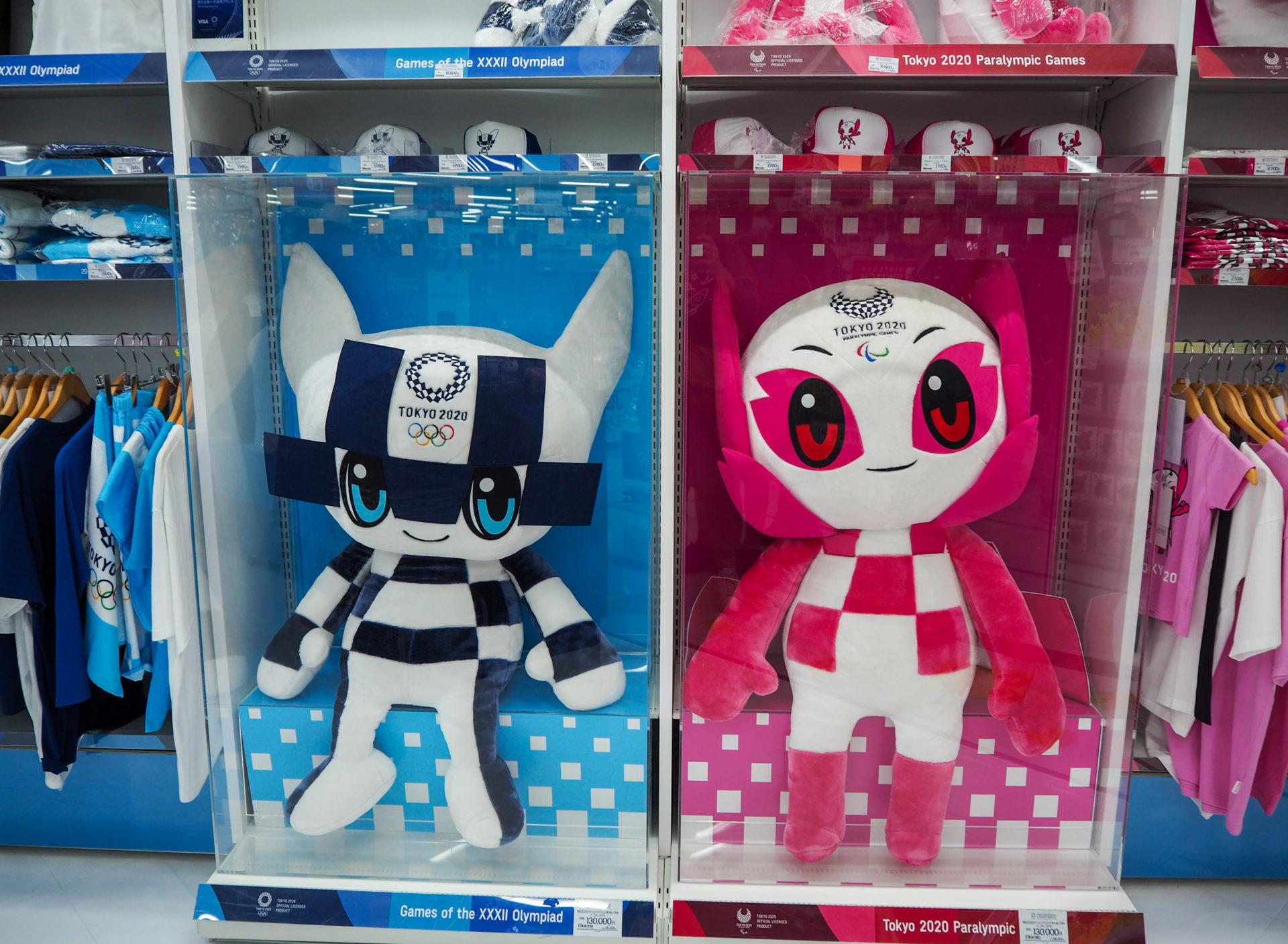 Les mascottes de JO Tokyo 2020 à Akihabara à Tokyo - Escale à Tokyo: 24h dans la capitale du Japon - Tokyo en 24h - Récit et itinéraire pour visiter Tokyo en une journée