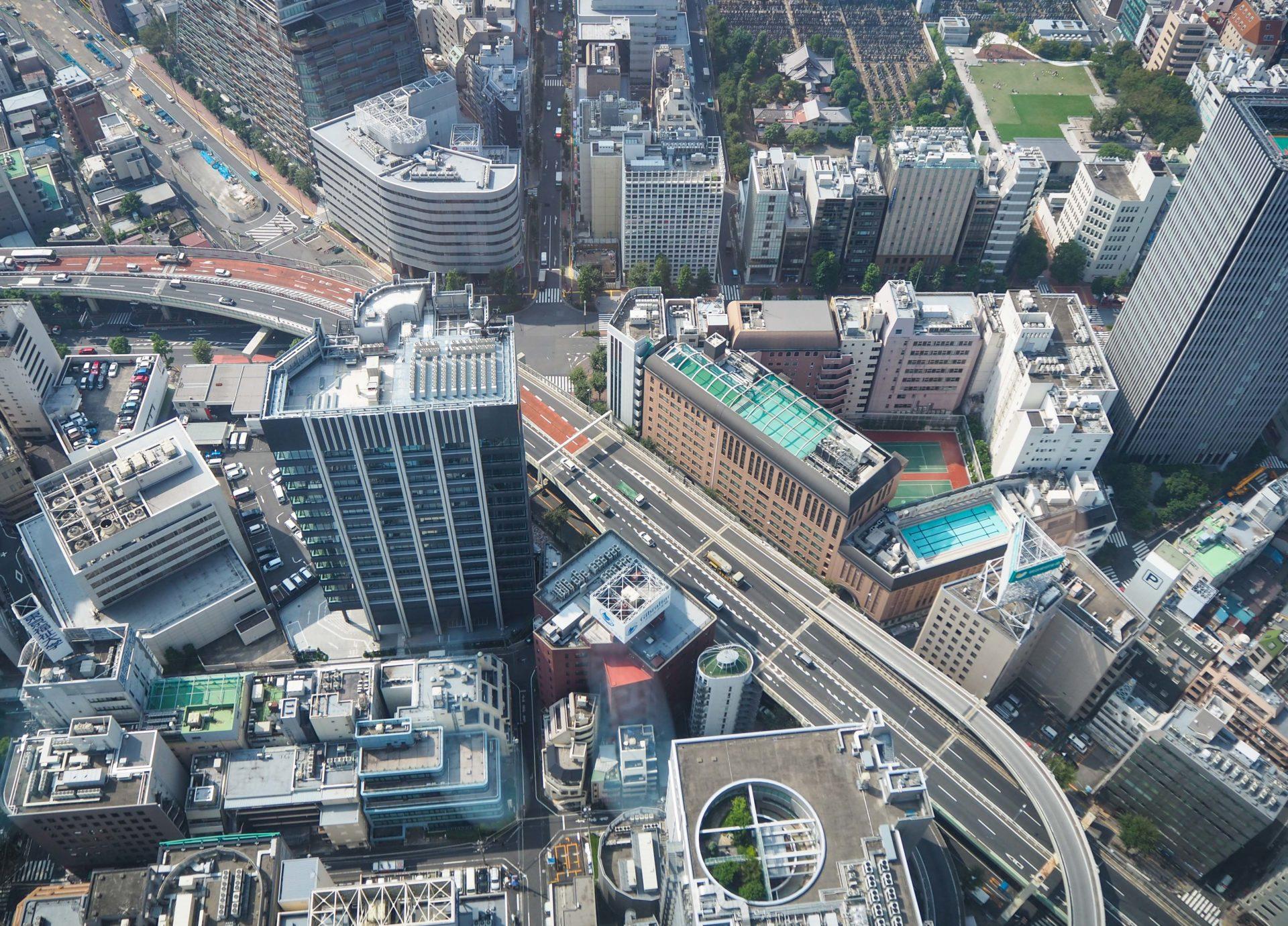 Vue depuis le Sky Circus Sunshine 60 à Ikebukuro - Escale à Tokyo: 24h dans la capitale du Japon - Tokyo en 24h - Récit et itinéraire pour visiter Tokyo en une journée