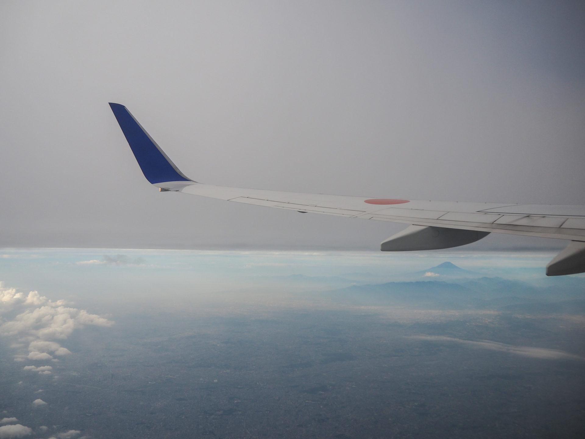 Vue sur le Mont Fuji de puis mon avion - Préfecture de Toyama, porte d'entrée vers les Alpes Japonaises - Voyager au Japon hors des sentiers battus