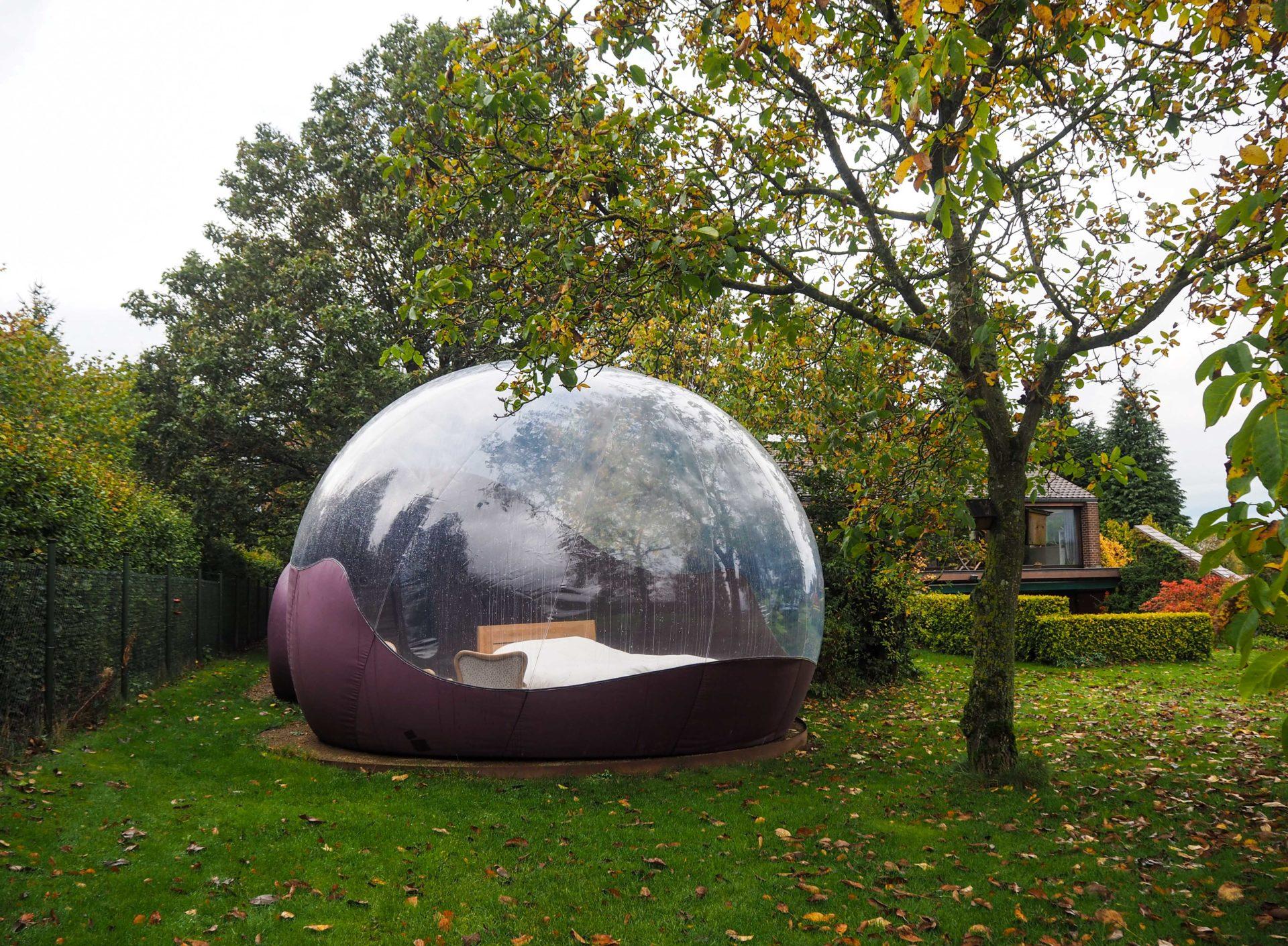 Dormir dans une bulle, un hébergement insolite en Ardenne belge - Le Chant des Etoiles à Spa - Ardenne Belge - Province de Liège - Voyage slow en Belgique