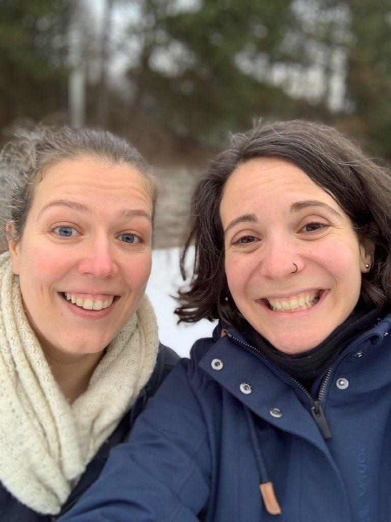 Avec Corinne de Vie Nomade sur la glace à Berlin