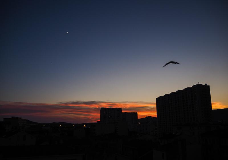 Coucher de soleil à Toulon, été 2020