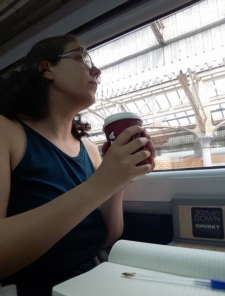 Ecrire dans le train lors d'une résidence d'écriture ambulante - Un voyage intuitif au coeur des Highlands en Ecosse - Voyages et Vagabondages